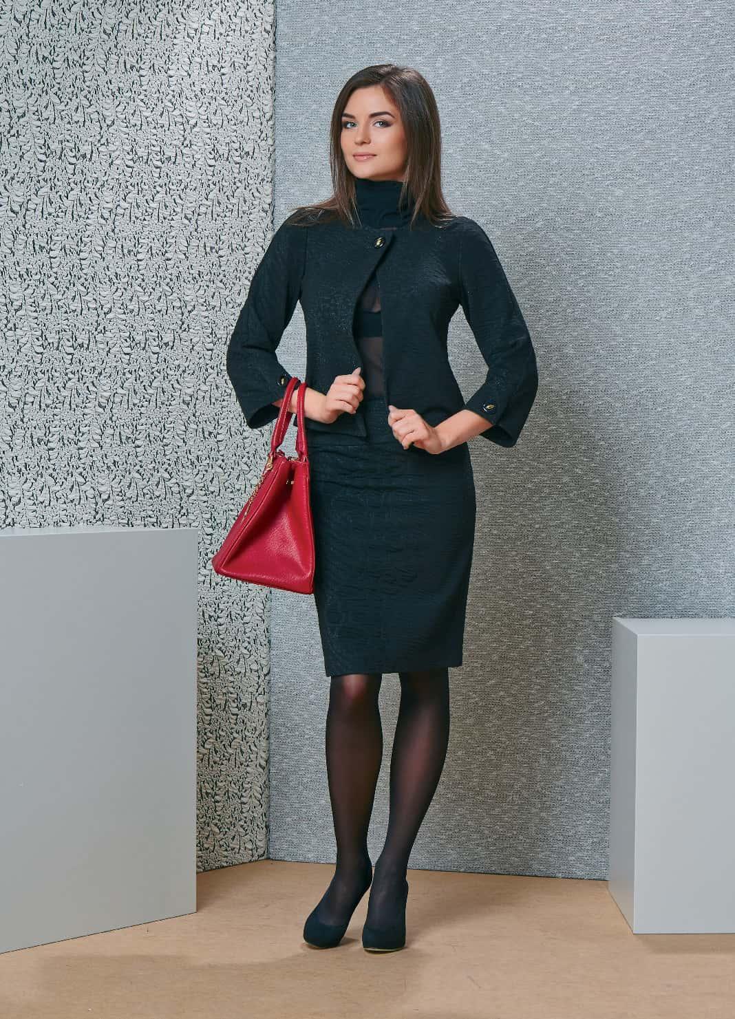 Женский костюм в офис TopDesign B4 130/131