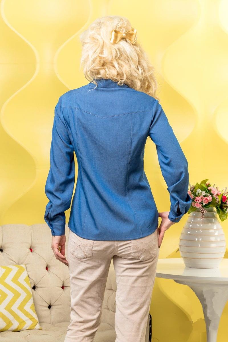 Женская джинсовая рубашка LalaStyle 980-07