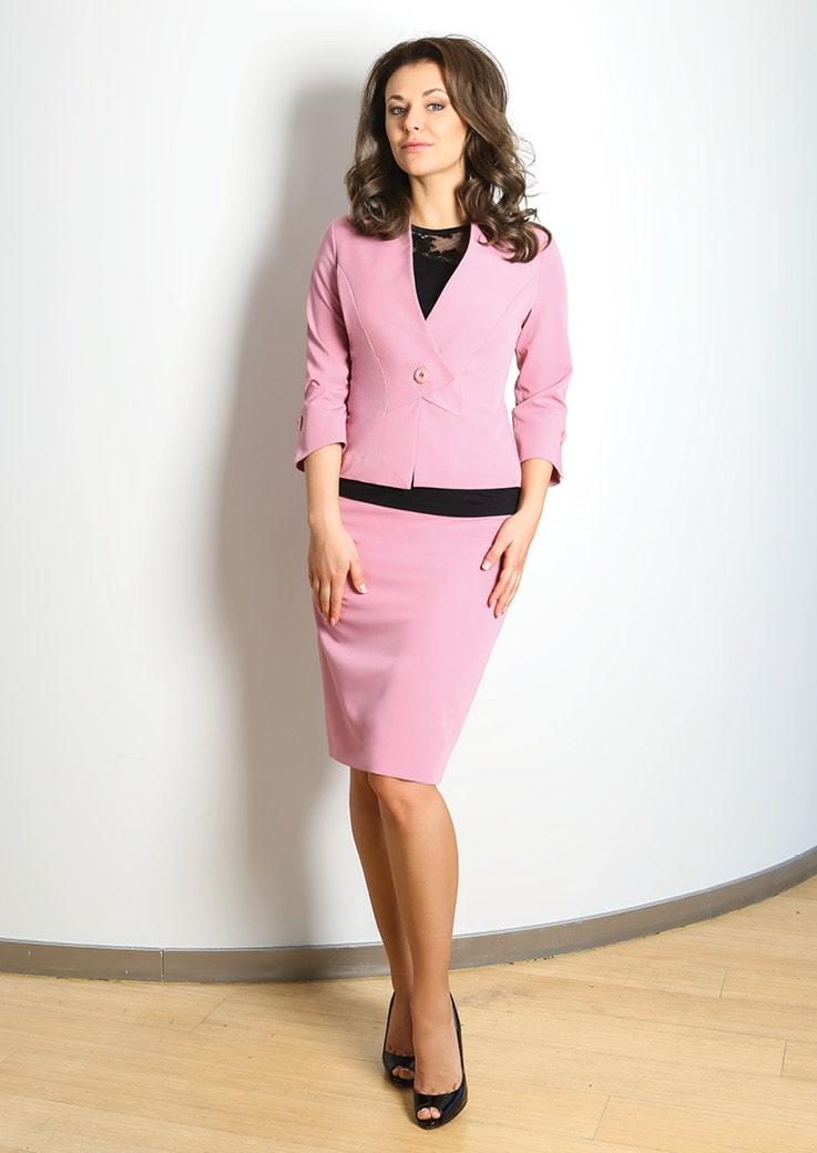 Летний костюм женский Top Design А7 031/032