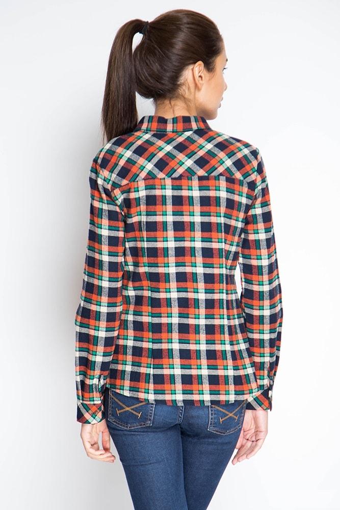 Женская клетчатая рубашка Marimay 15122