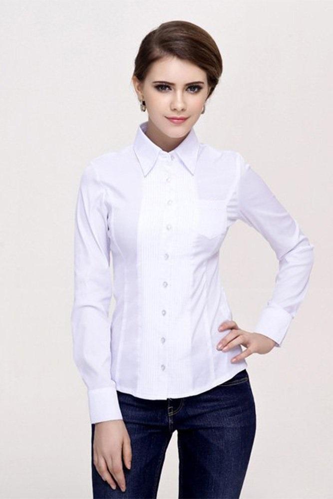Модная белая рубашка Marimay 905-1239