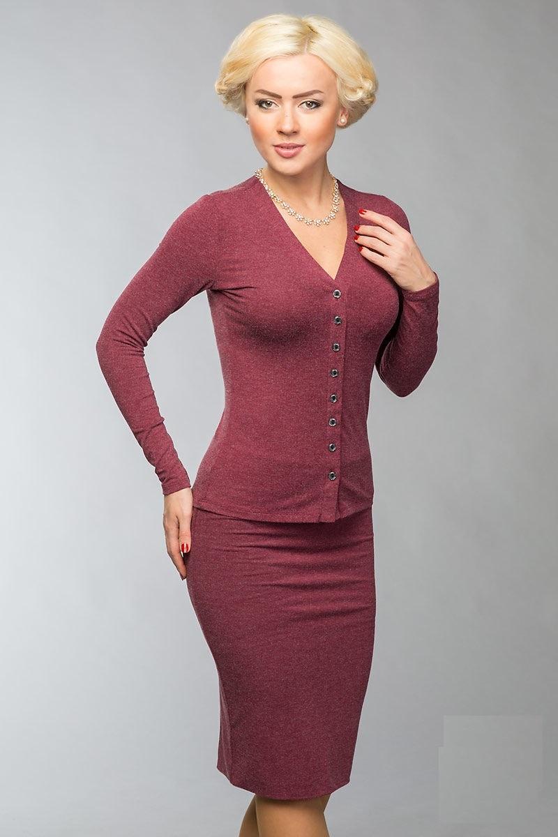 Женский жакет цвета марсала  LalaStyle 900