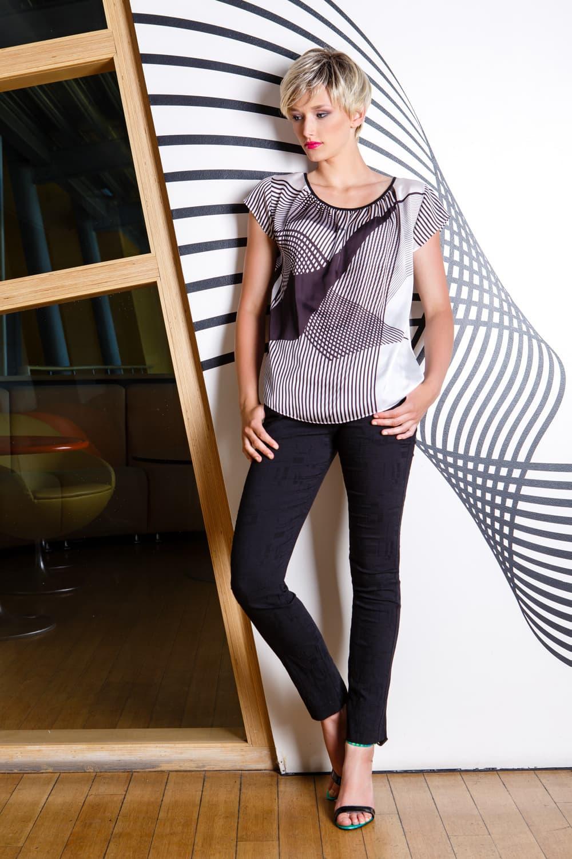 Блузка с коротким рукавом Flaibach 023S6