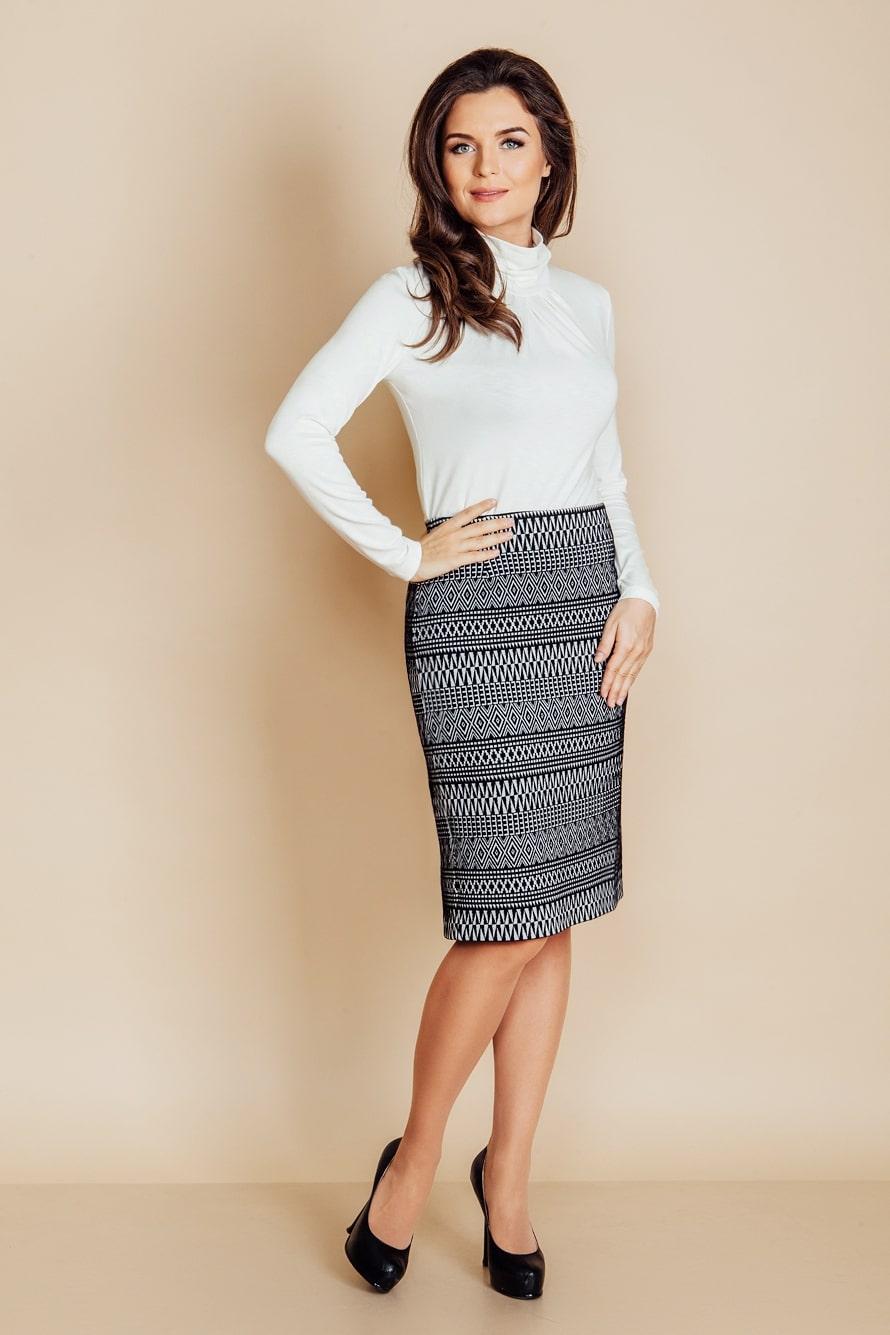 Стильная юбка карандаш Top Design B6 062