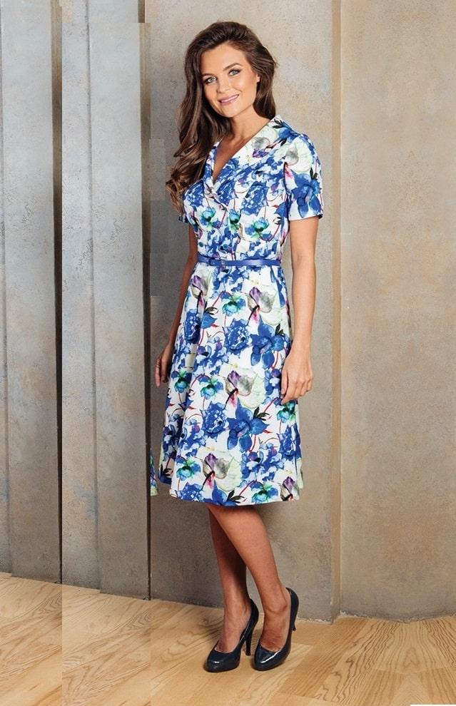 летние платье в офис