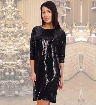 Новогоднее блестящее платье Natali