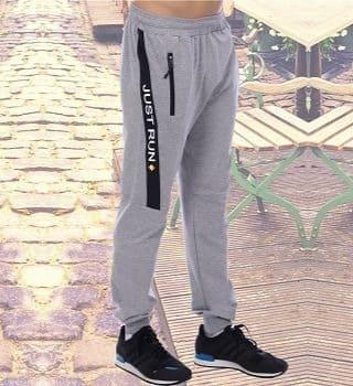 Мужские брюки на манжете краска а серый меланж Berchelli