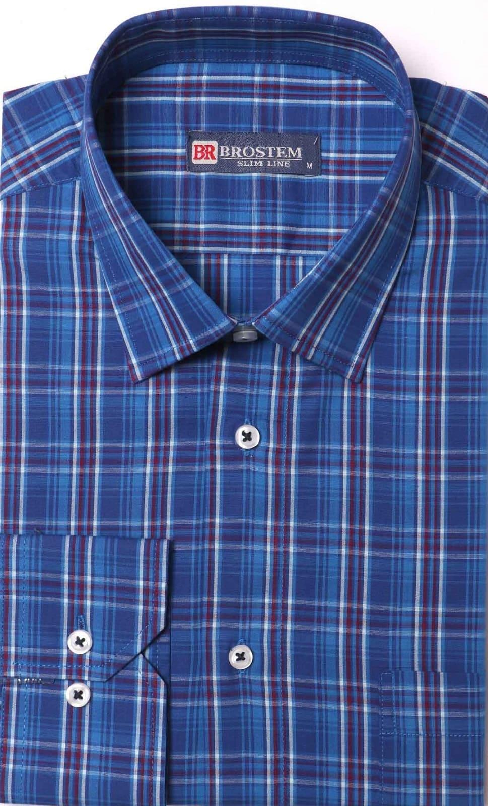 Хлопковая рубашка в клетку Brostem K6-277