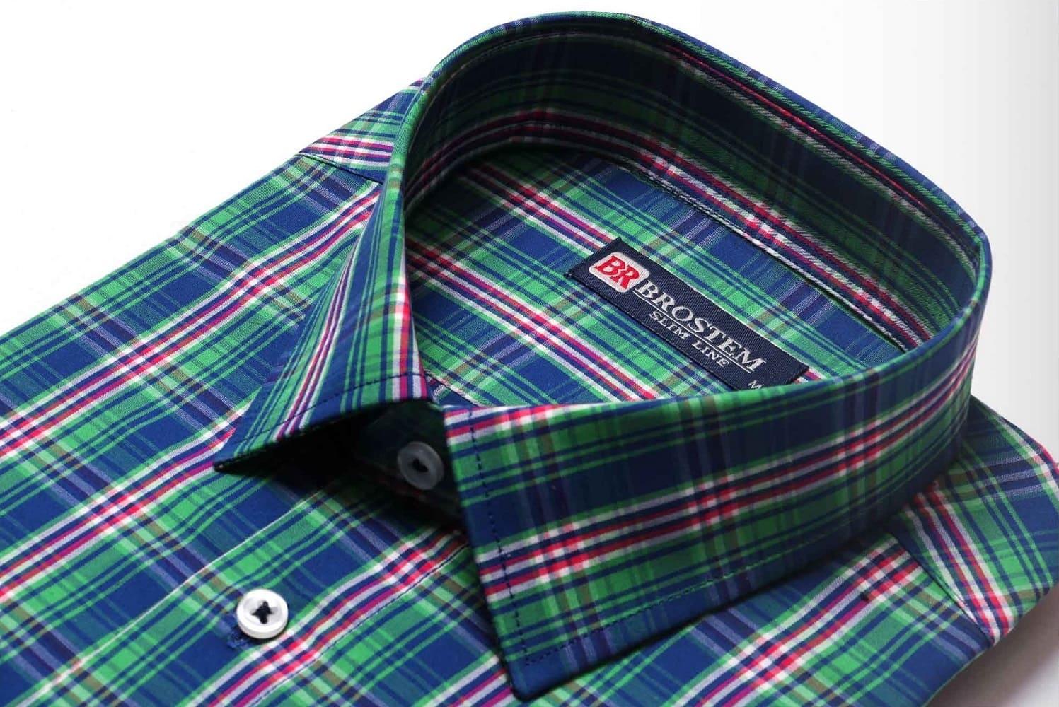 Мужская рубашка с модной клеткой Brostem K6-281