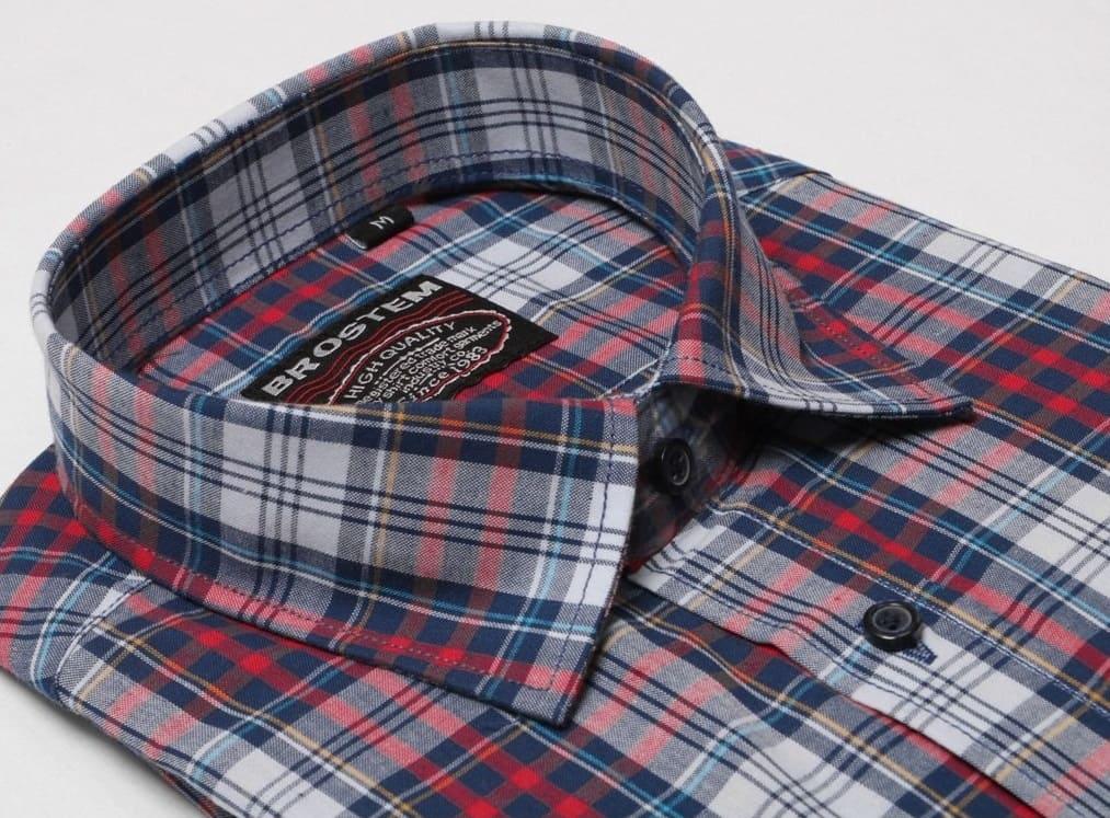 Рубашка в клетку с двумя карманами Brostem SH4