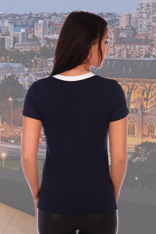 Приталенная футболка из вискозы