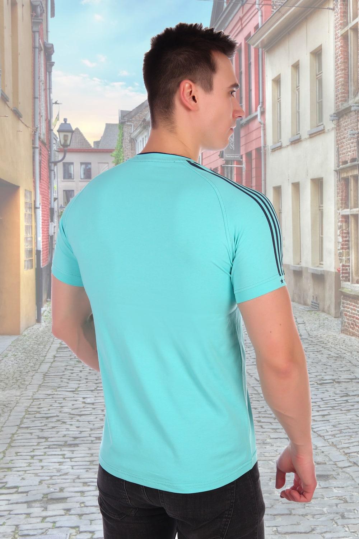 Мужская футболка с полосками на рукавах