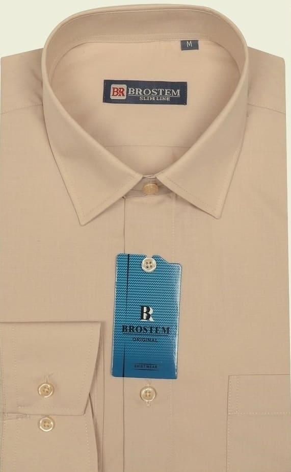 Мужская однотонная рубашка Brostem W16