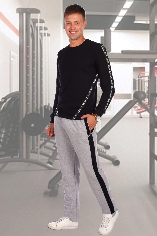 Серые мужские брюки casual