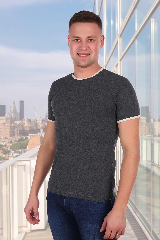Темно-серая футболка без надписей
