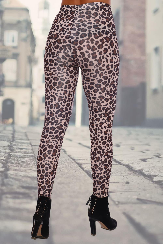 Леопардовые облегающие легинсы