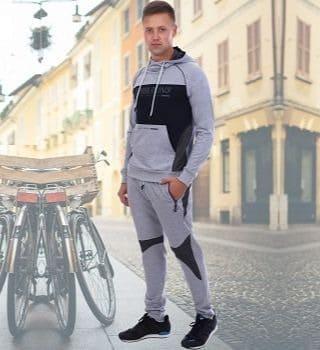 Серый меланжевый спортивный костюм Berchelli