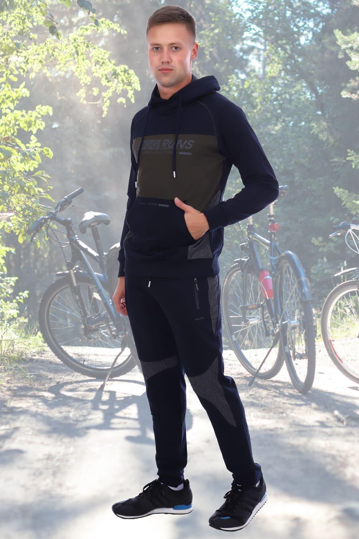 Темно-синий со вставками спортивный костюм Berchelli