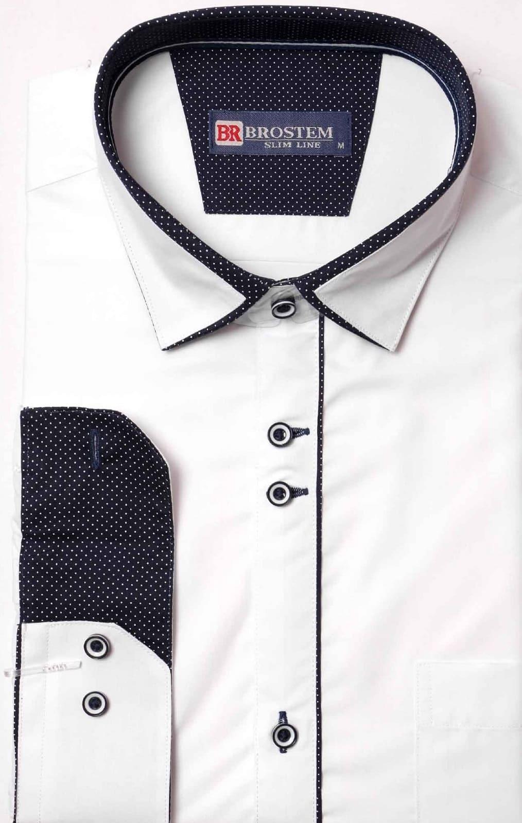 Белая мужская рубашка с длинным рукавом Brostem 9LBR41+1