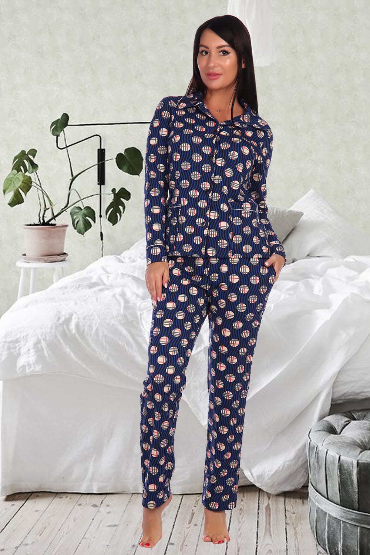 Хлопковая женская пижама с начесом