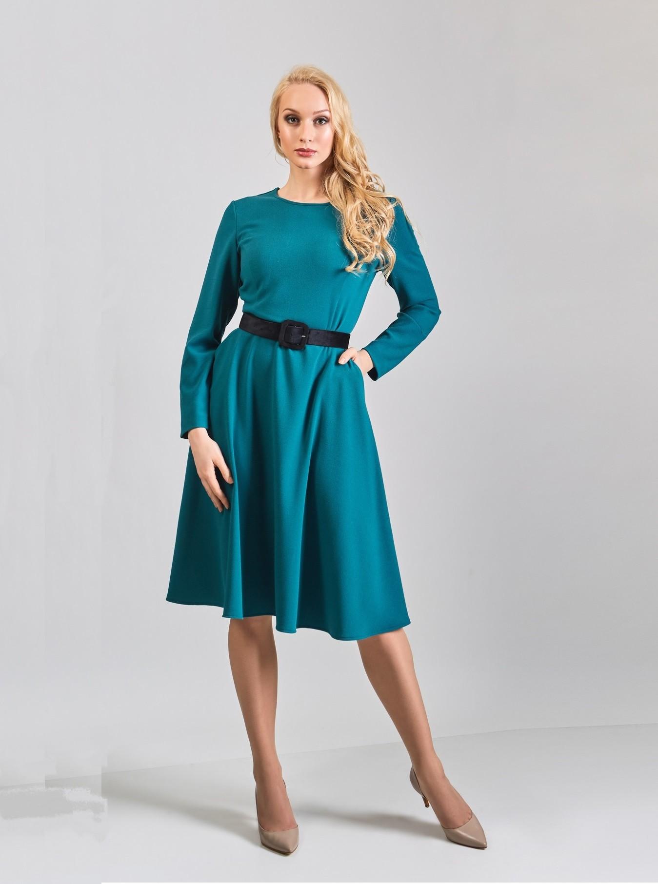 Модное синие платье TopDesign B8 005