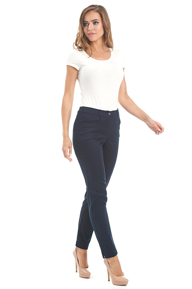 Синие женские брюки LalaStyle 1461