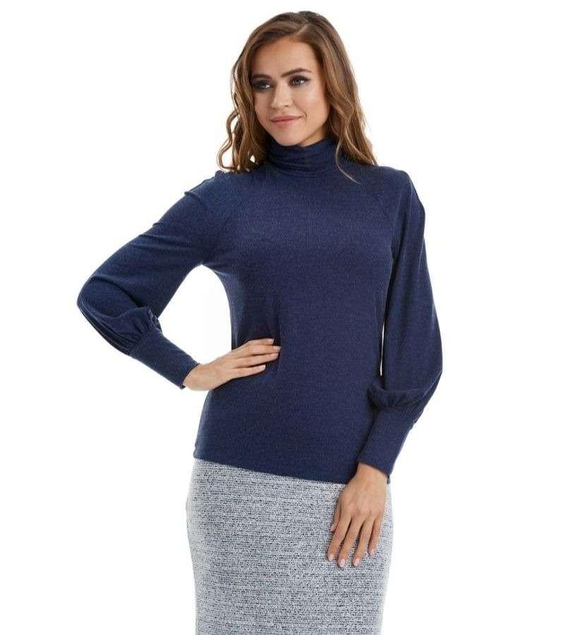 Синяя модная водолазка LalaStyle W08024