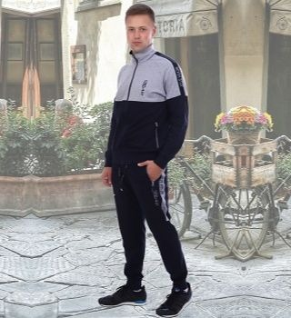 Темно-синий с серым мужской костюм Berchelli