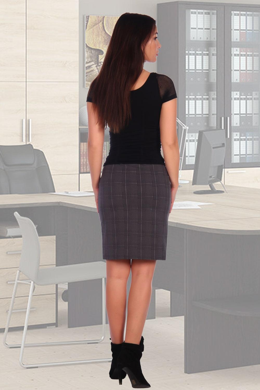 Трикотажная женская юбка на резинке