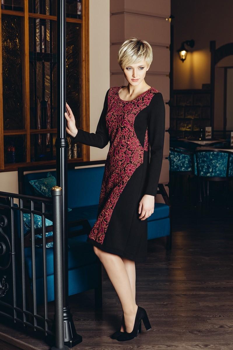 Элегантное платье с долгими  рукавами Flaibach 073W6