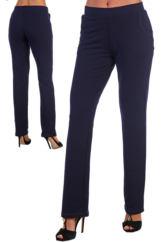 Темно-синие женские брюки