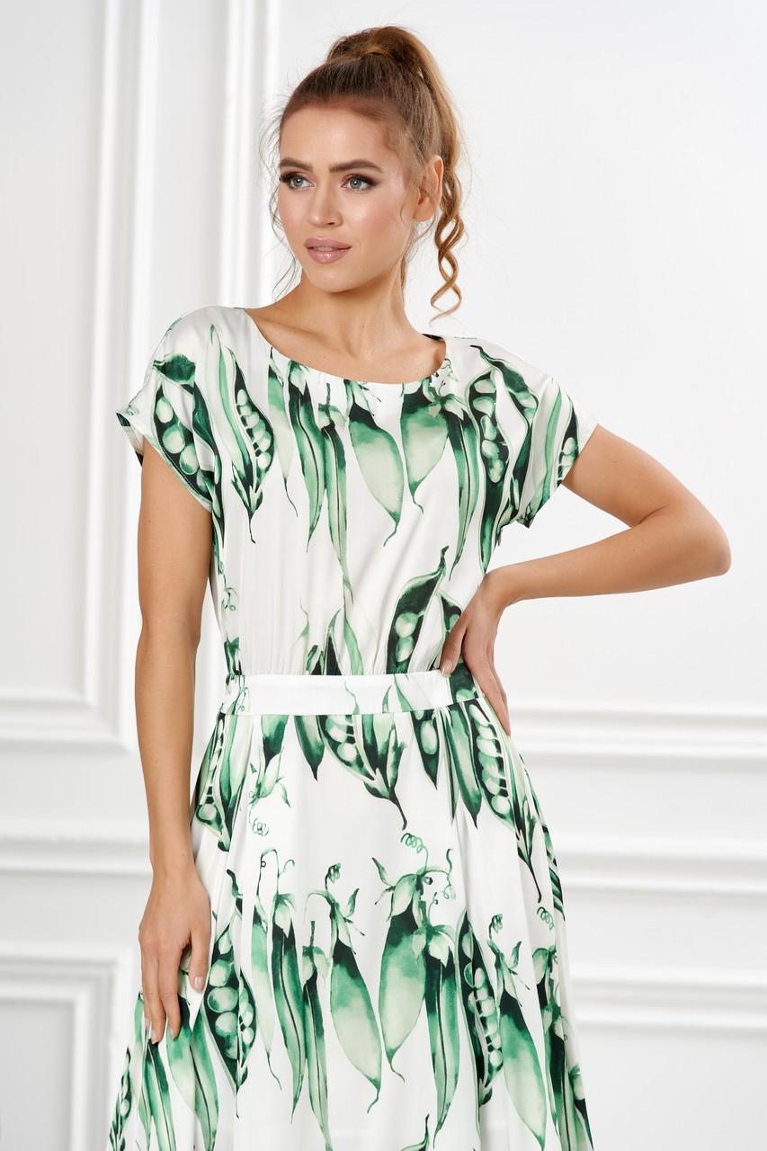 Платье со стручками гороха LalaStyle S01104-302