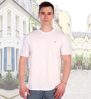 Белая футболка хлопок с лайкрой