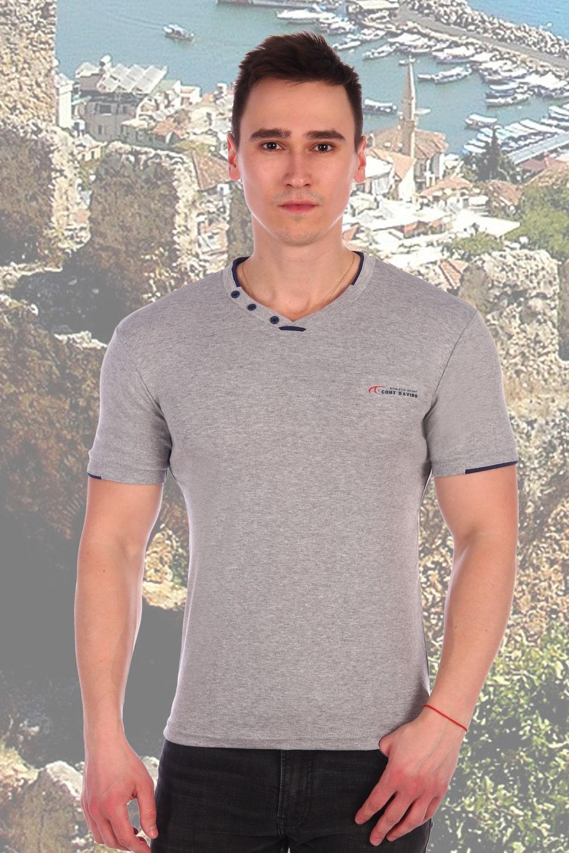 Хлопковая серая футболка Berchelli