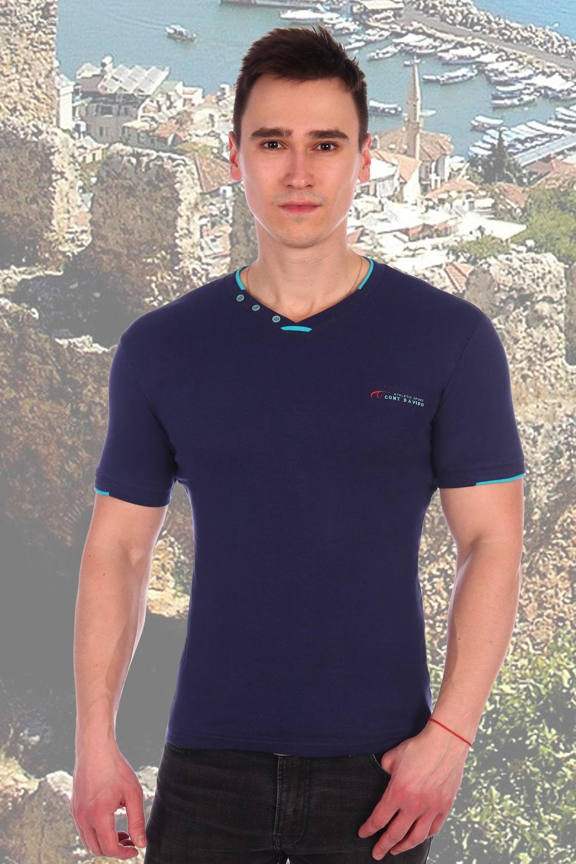Хлопковая темно-синяя футболка Berchelli