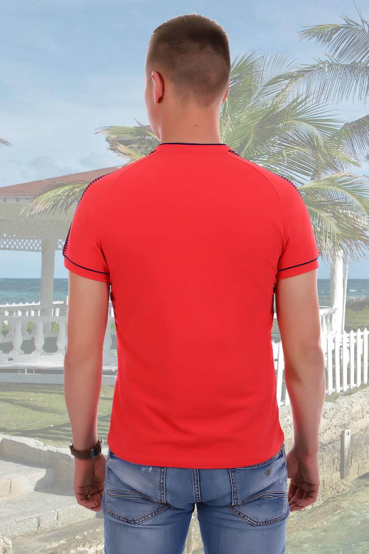 Коралловая оригинальная мужская футболка