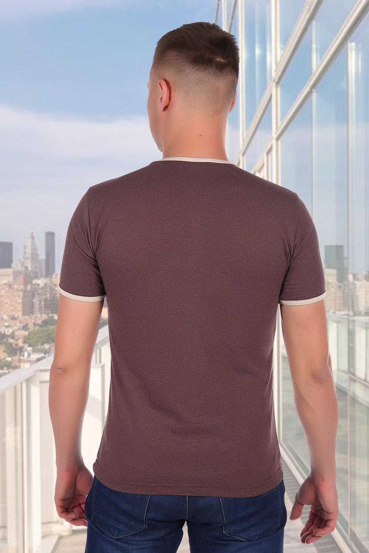 Коричневая футболка без надписей