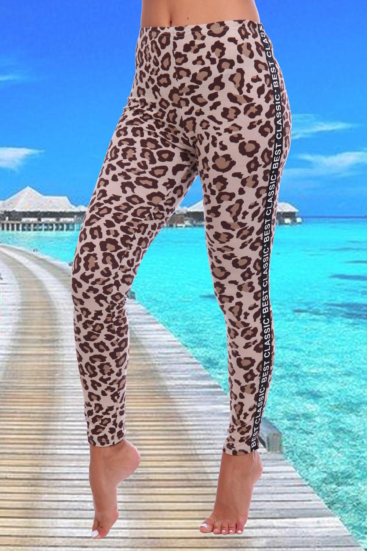 Леопардовые легинсы