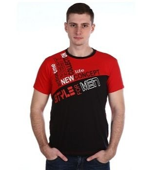 Мужская футболка с красным