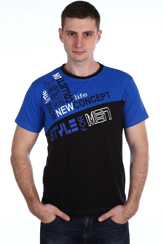 Мужская футболка с синем