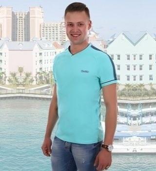 Оригинальная мужская футболка цвет ментол