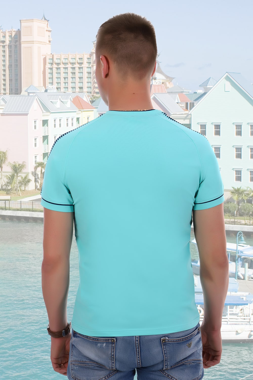 Оригинальная мужская футболка краска  ментол