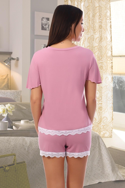 Сиреневая пижама с шортами