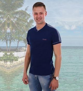 Темно-синяя оригинальная мужская футболка