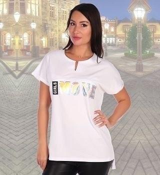Удлиненная белая футболка
