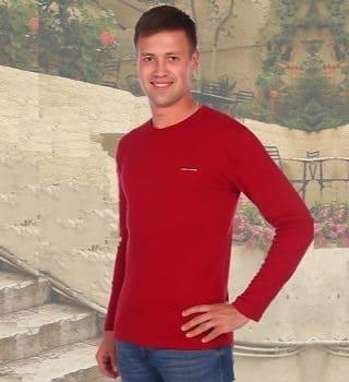 Красный мужской джемпер Berchelli