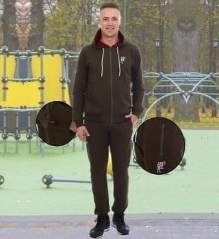 Мужской спортивный костюм хаки Berchelli