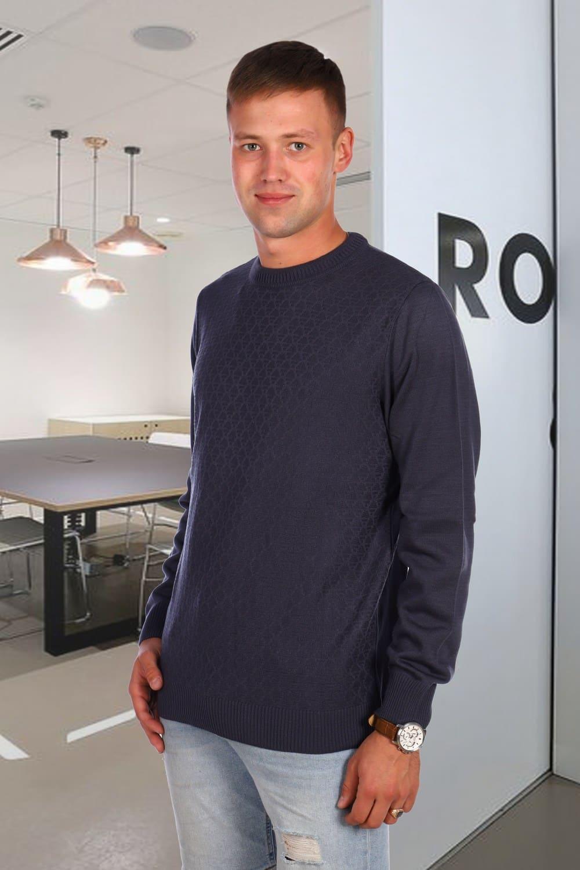 Мужской свитер с фактурой Berchelli