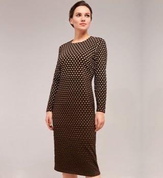 Платье из фактурной ткани Top Design B7 063