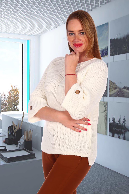 свитер женский белый